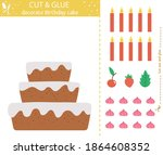 vector birthday party cut and... | Shutterstock .eps vector #1864608352