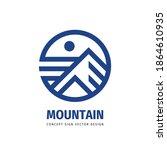 mountain logo template design.... | Shutterstock .eps vector #1864610935