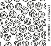 gambling dices seamless pattern ... | Shutterstock .eps vector #186462215