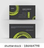 set of modern vector business...   Shutterstock .eps vector #186464798