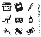 tattoo icons | Shutterstock .eps vector #186467966