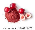 Heap Of Dried Cranberry Powder...