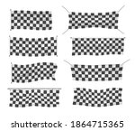 beginners  trim and checkered... | Shutterstock .eps vector #1864715365