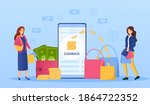 cashback concept with golden...