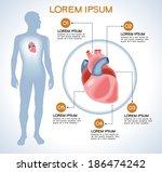 heart. modern medical...   Shutterstock .eps vector #186474242