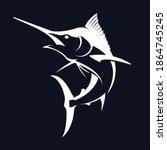 Black Marlin Fishing Logo  ...