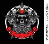 bikers skull logo available for ... | Shutterstock .eps vector #1864754038