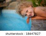 a little girl having fun near... | Shutterstock . vector #18647827