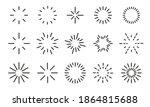 starburst icon set. sunbursts ... | Shutterstock .eps vector #1864815688