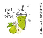 smoothies or detox cocktail day ...   Shutterstock .eps vector #1864833985