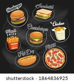 fast food vector icons... | Shutterstock .eps vector #1864836925