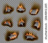burning holes  vector burn... | Shutterstock .eps vector #1864841185