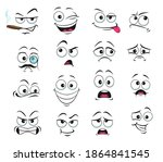 face expression isolated vector ... | Shutterstock .eps vector #1864841545