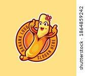 abstract thumbs up banana logo...   Shutterstock .eps vector #1864859242