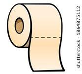 Vector Toilet Paper Cartoon...
