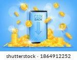money cash back vector finance... | Shutterstock .eps vector #1864912252