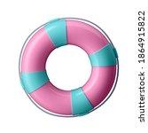 3d illustration. lifebuoy in... | Shutterstock . vector #1864915822