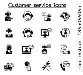 set of customer service related ... | Shutterstock .eps vector #1865066065