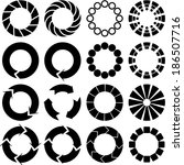 circle icon black and white | Shutterstock .eps vector #186507716