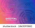 digital technology banner pink... | Shutterstock .eps vector #1865095882