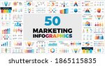 50 marketing infographic... | Shutterstock .eps vector #1865115835