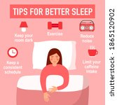 tips for better sleep at night... | Shutterstock .eps vector #1865120902