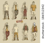 man in fashion clothes isolated ... | Shutterstock .eps vector #186512342