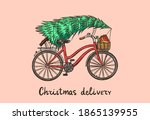 Bicycle With A Christmas Tree....