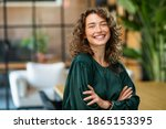 Portrait of young smiling woman ...