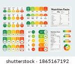 food value infographic set.... | Shutterstock .eps vector #1865167192