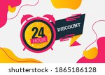 24 hour sale discount time... | Shutterstock .eps vector #1865186128