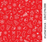 christmas seamless pattern of... | Shutterstock .eps vector #1865196388