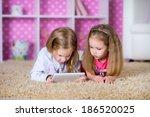 kids together on the floor...   Shutterstock . vector #186520025