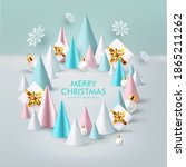 christmas and new year... | Shutterstock .eps vector #1865211262