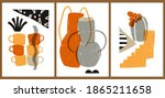 a set of three colorful...   Shutterstock .eps vector #1865211658