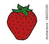 cartoon strawberry   Shutterstock .eps vector #186522182