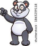 cute cartoon panda pointing... | Shutterstock .eps vector #1865259118