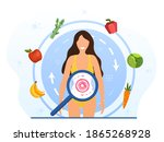 metabolism of human organism.... | Shutterstock .eps vector #1865268928