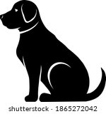 vector silhouette of a dog on a ... | Shutterstock .eps vector #1865272042