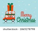 santa claus and gang of animal... | Shutterstock .eps vector #1865278798