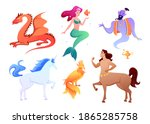 mythical fantasy creatures...   Shutterstock .eps vector #1865285758