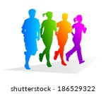 abstract and colorful... | Shutterstock . vector #186529322