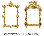 isolated golden antique picture ... | Shutterstock . vector #1865314438