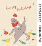 christmas card  poster or...   Shutterstock .eps vector #1865343118