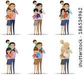 portrait of happy family...   Shutterstock .eps vector #186534962