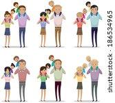 portrait of happy family... | Shutterstock .eps vector #186534965