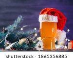 Christmas Ale Glass In Santa's...