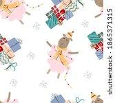 Seamless Christmas Pattern...