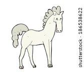 cartoon horse | Shutterstock .eps vector #186538622