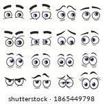 cartoon funny eyes  cartoon... | Shutterstock .eps vector #1865449798